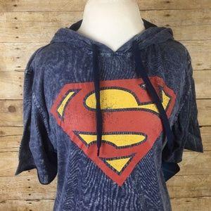 Superman Men's Hooded T-Shirt Man of Steel